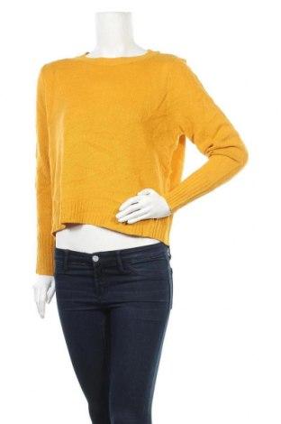 Дамски пуловер H&M Divided, Размер M, Цвят Жълт, Акрил, Цена 25,20лв.