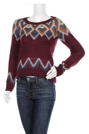 Дамски пуловер H&M Divided, Размер S, Цвят Червен, 75% акрил, 15% вълна, 10% мохер, Цена 15,12лв.