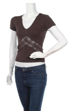 Дамски пуловер Hallhuber, Размер L, Цвят Кафяв, 67% вискоза, 33% полиамид, Цена 27,93лв.