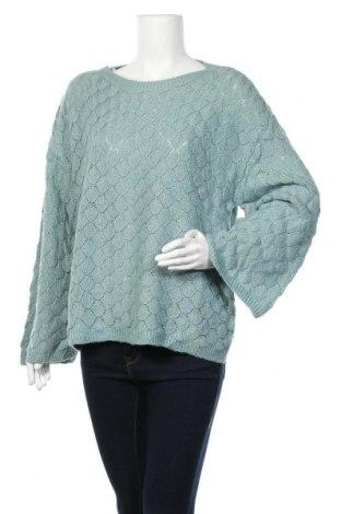 Дамски пуловер Heine, Размер L, Цвят Син, 60% акрил, 30% мохер, 7% метални нишки, 3% полиестер, Цена 14,44лв.