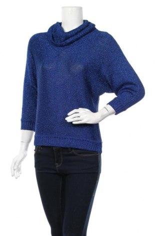 Дамски пуловер INC International Concepts, Размер M, Цвят Син, 66% вискоза, 22% полиамид, 12% метални нишки, Цена 11,20лв.