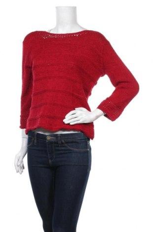 Дамски пуловер Jana, Размер L, Цвят Червен, 60% полиестер, 40% памук, Цена 14,36лв.