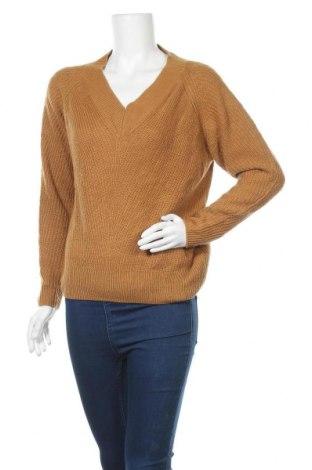 Дамски пуловер Jean Pascale, Размер S, Цвят Кафяв, Акрил, Цена 9,24лв.