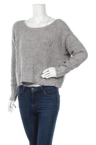 Дамски пуловер Kaisely, Размер L, Цвят Сив, 40% акрил, 35% полиамид, 20% вълна, 5% вълна от алпака, Цена 26,25лв.