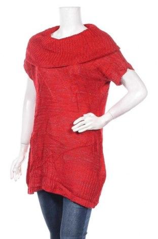 Дамски пуловер L.e.i., Размер L, Цвят Червен, 94% акрил, 6% други тъкани, Цена 7,09лв.