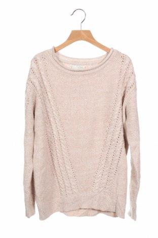 Дамски пуловер Lucky Brand, Размер XS, Цвят Бежов, 55% акрил, 45% памук, Цена 20,48лв.
