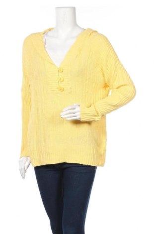 Дамски пуловер North Crest, Размер L, Цвят Жълт, Памук, Цена 30,45лв.