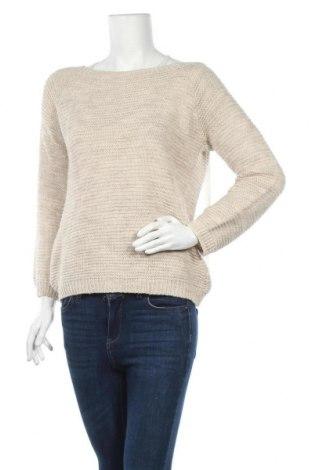 Γυναικείο πουλόβερ Nuna Lie, Μέγεθος L, Χρώμα  Μπέζ, 75%ακρυλικό, 10% μαλλί, 10% βισκόζη, 5% μεταλλικά νήματα, Τιμή 17,90€