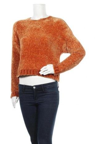 Дамски пуловер Pull&Bear, Размер S, Цвят Оранжев, Полиестер, Цена 15,36лв.