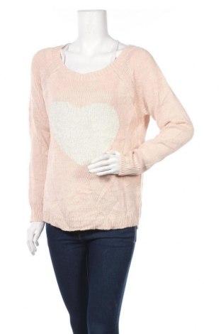 Дамски пуловер Reitmans, Размер M, Цвят Розов, 86% акрил, 14% метални нишки, Цена 6,56лв.