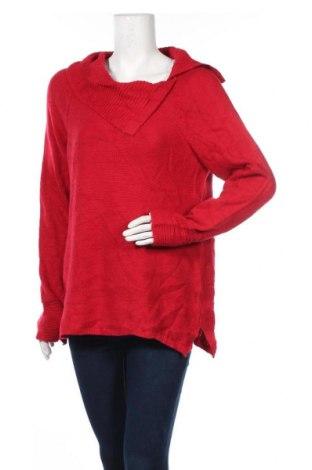 Дамски пуловер Ricki's, Размер L, Цвят Червен, 72% акрил, 28% полиамид, Цена 23,94лв.