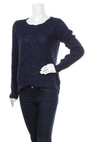 Дамски пуловер Suzy Shier, Размер L, Цвят Син, Акрил, Цена 7,88лв.