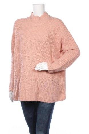 Дамски пуловер Talk About, Размер L, Цвят Розов, 50% полиакрил, 22% полиамид, 19% вълна, 5% мохер, 4% метални нишки, Цена 10,40лв.