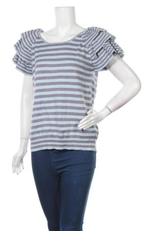 Дамски пуловер Think Positive, Размер L, Цвят Син, Памук, Цена 23,94лв.