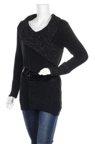 Дамски пуловер United States Sweaters, Размер S, Цвят Черен, 93% акрил, 7% полиамид, Цена 8,40лв.