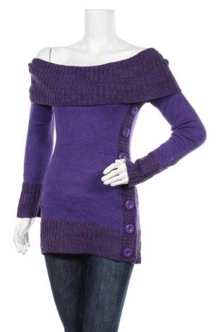 Дамски пуловер Yoki, Размер M, Цвят Лилав, Цена 5,51лв.