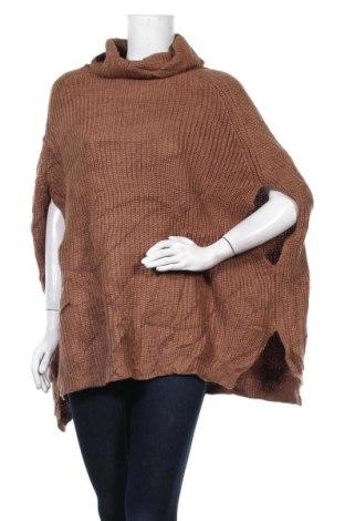 Дамски пуловер Zenana Outfitters, Размер L, Цвят Кафяв, Акрил, Цена 8,40лв.