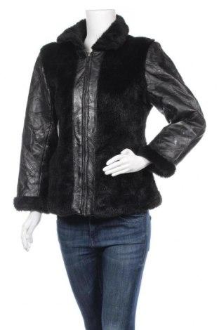 Дамско кожено яке, Размер S, Цвят Черен, Естествена кожа, Цена 25,83лв.
