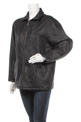 Γυναικείο δερμάτινο μπουφάν, Μέγεθος L, Χρώμα Μαύρο, Γνήσιο δέρμα, Τιμή 17,73€