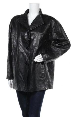 Γυναικείο δερμάτινο μπουφάν Ellen Tracy, Μέγεθος L, Χρώμα Μαύρο, Γνήσιο δέρμα, Τιμή 25,46€
