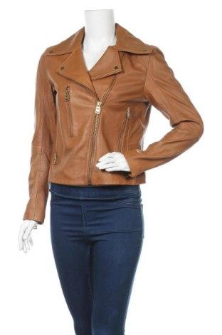 Дамско кожено яке Isaco & Kawa, Размер S, Цвят Кафяв, Естествена кожа, Цена 104,40лв.