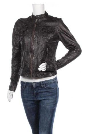 Дамско кожено яке Noir, Размер M, Цвят Кафяв, Естествена кожа, Цена 36,96лв.
