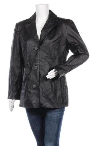 Дамско кожено яке Worthington, Размер L, Цвят Черен, Естествена кожа, Цена 20,77лв.