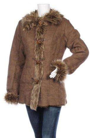 Дамско палто, Размер M, Цвят Кафяв, 70% акрил, 30% полиестер, Цена 48,88лв.