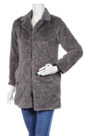 Дамско палто, Размер M, Цвят Сив, Акрил, Цена 16,90лв.