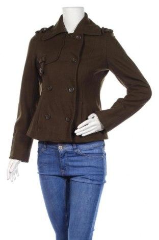 Дамско палто DKNY, Размер M, Цвят Зелен, 60% вълна, 20% полиестер, 20% вискоза, Цена 68,16лв.