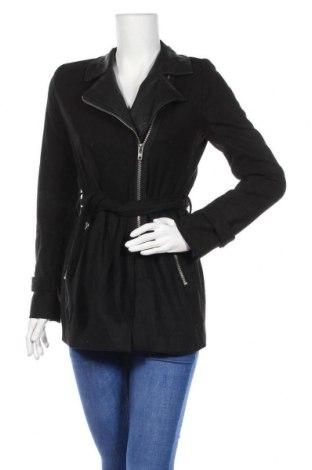 Дамско палто Delia*s, Размер S, Цвят Черен, 90% полиестер, 10% вълна, Цена 54,86лв.