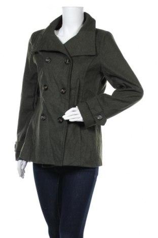 Дамско палто Thread & Supply, Размер L, Цвят Зелен, 65% полиестер, 35% вълна, Цена 63,84лв.