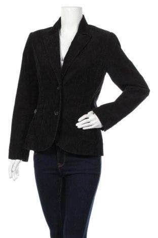 Дамско сако H&M, Размер M, Цвят Черен, 98% памук, 2% еластан, Цена 5,51лв.