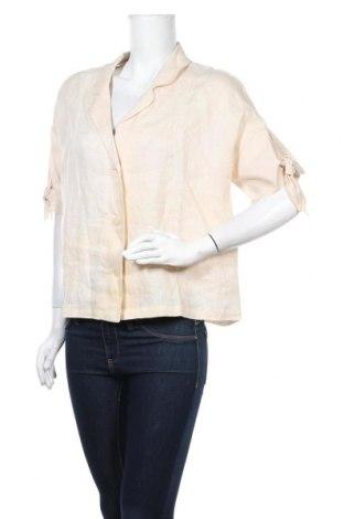 Дамско сако Mango, Размер M, Цвят Бежов, Лен, Цена 44,85лв.