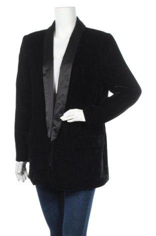 Дамско сако Violeta by Mango, Размер M, Цвят Черен, Полиестер, Цена 18,29лв.