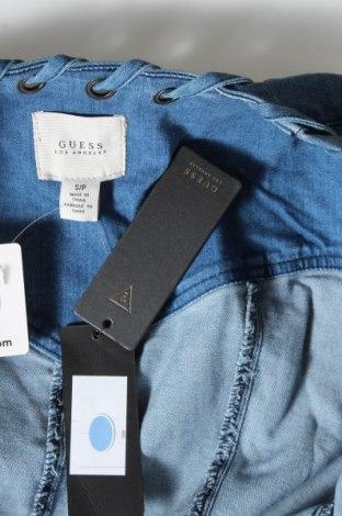 Дамско яке Guess, Размер S, Цвят Син, 92% памук, 7% полиестер, 1% еластан, Цена 55,72лв.