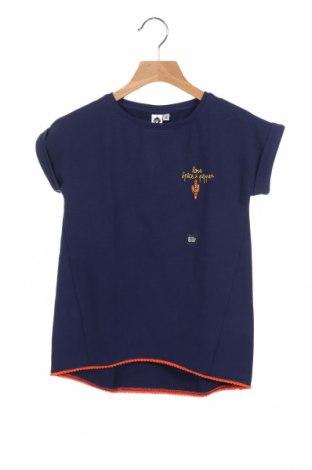 Детска блуза Grain De Ble, Размер 6-7y/ 122-128 см, Цвят Син, 56% памук, 40% полиестер, 4% еластан, Цена 16,20лв.
