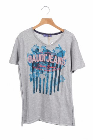 Детска тениска Gaudi, Размер 13-14y/ 164-168 см, Цвят Сив, Памук, Цена 22,05лв.