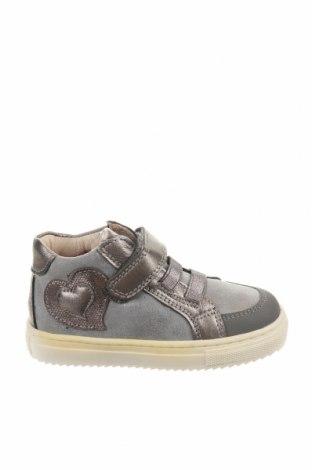Παιδικά παπούτσια Garvalin, Μέγεθος 23, Χρώμα Γκρί, Γνήσιο δέρμα, Τιμή 33,71€