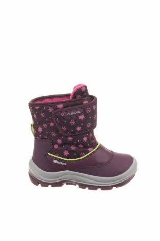 Παιδικά παπούτσια Geox, Μέγεθος 24, Χρώμα Βιολετί, Δερματίνη, κλωστοϋφαντουργικά προϊόντα, Τιμή 32,51€