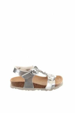 Παιδικά παπούτσια Grunland, Μέγεθος 24, Χρώμα Ασημί, Δερματίνη, Τιμή 20,21€