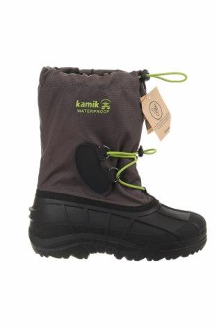 Παιδικά παπούτσια Kamik, Μέγεθος 35, Χρώμα Γκρί, Κλωστοϋφαντουργικά προϊόντα, πολυουρεθάνης, Τιμή 31,70€