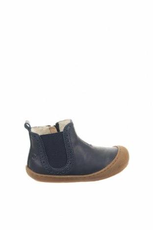 Παιδικά παπούτσια Naturino, Μέγεθος 22, Χρώμα Μπλέ, Γνήσιο δέρμα, κλωστοϋφαντουργικά προϊόντα, Τιμή 31,28€