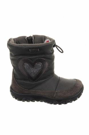 Παιδικά παπούτσια Naturino, Μέγεθος 22, Χρώμα Γκρί, Φυσικό σουέτ, κλωστοϋφαντουργικά προϊόντα, Τιμή 25,34€