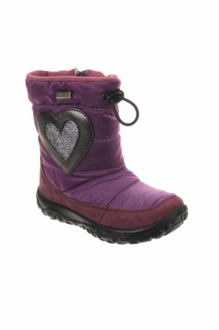 Παιδικά παπούτσια Naturino, Μέγεθος 24, Χρώμα Βιολετί, Φυσικό σουέτ, κλωστοϋφαντουργικά προϊόντα, Τιμή 46,08€