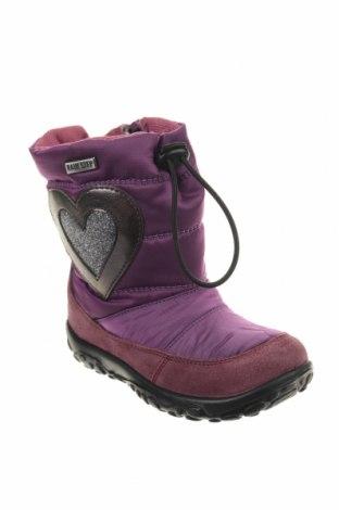 Παιδικά παπούτσια Naturino, Μέγεθος 23, Χρώμα Βιολετί, Φυσικό σουέτ, κλωστοϋφαντουργικά προϊόντα, Τιμή 46,08€