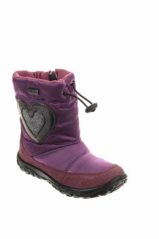 Παιδικά παπούτσια Naturino, Μέγεθος 25, Χρώμα Βιολετί, Φυσικό σουέτ, κλωστοϋφαντουργικά προϊόντα, Τιμή 46,08€