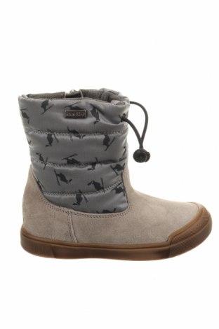 Παιδικά παπούτσια Naturino, Μέγεθος 25, Χρώμα Γκρί, Φυσικό σουέτ, κλωστοϋφαντουργικά προϊόντα, Τιμή 31,28€
