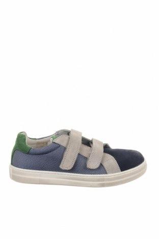 Παιδικά παπούτσια Naturino, Μέγεθος 33, Χρώμα Μπλέ, Φυσικό σουέτ, κλωστοϋφαντουργικά προϊόντα, Τιμή 35,58€