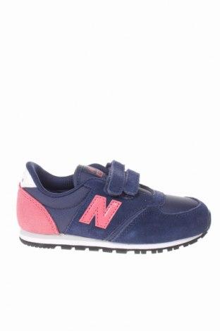 Παιδικά παπούτσια New Balance, Μέγεθος 26, Χρώμα Μπλέ, Φυσικό σουέτ, κλωστοϋφαντουργικά προϊόντα, Τιμή 26,61€